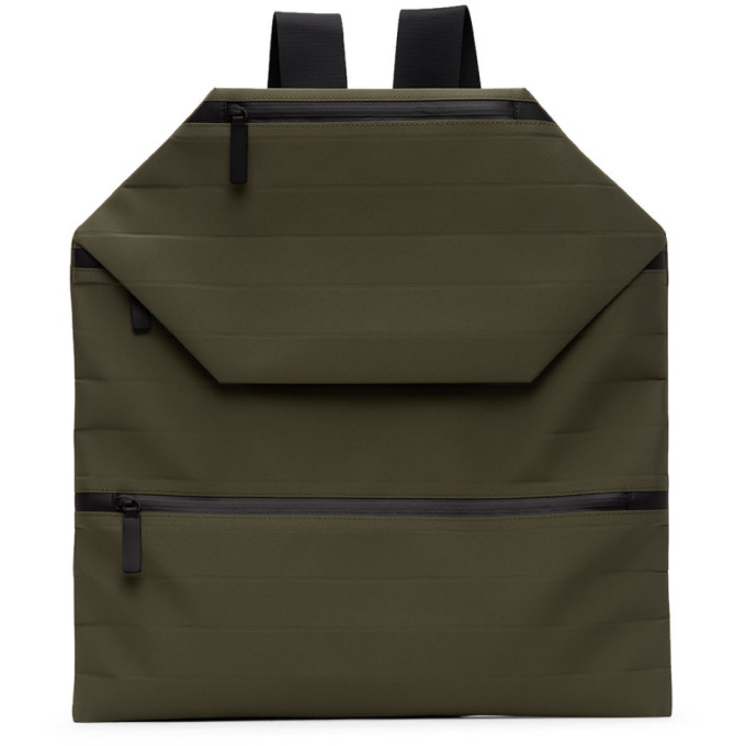Issey Miyake Men Khaki Galette Backpack In 65 Khaki