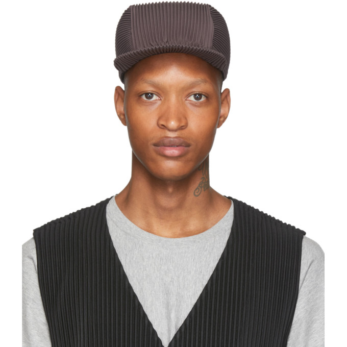 Homme Plisse Issey Miyake Casquette plissee grise