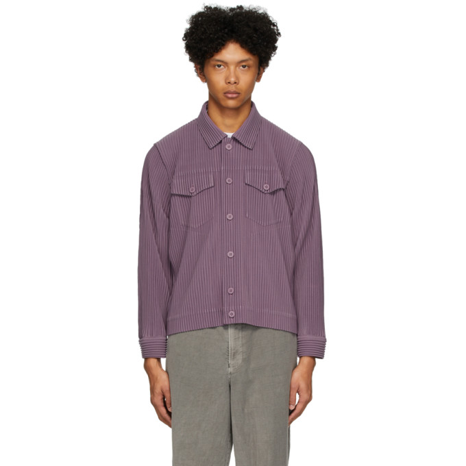 Pleats Please Issey Miyake Homme Plisse Issey Miyake Purple Pleated Tailored Jacket In 81 Amethysl