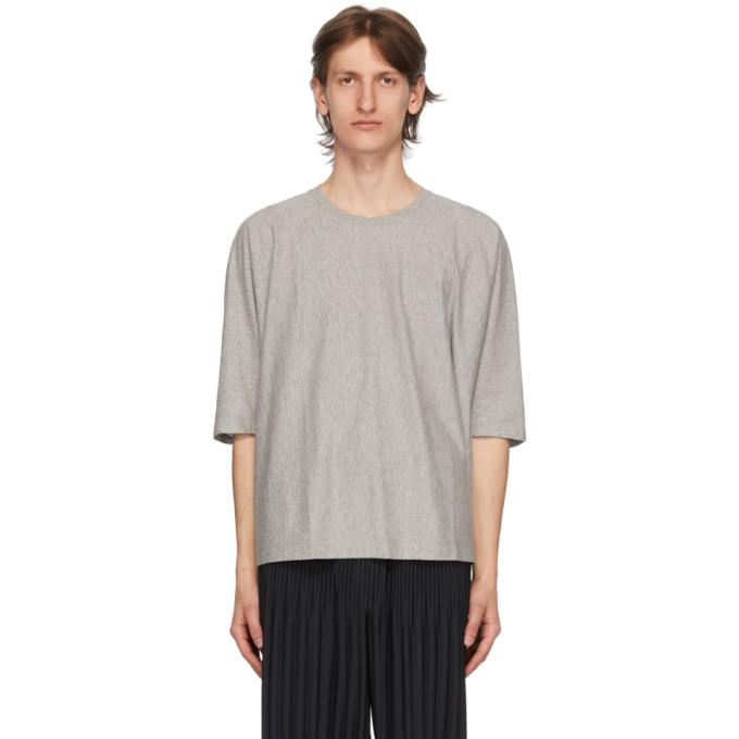 Homme Plisse Issey Miyake T-shirt gris Release Basic