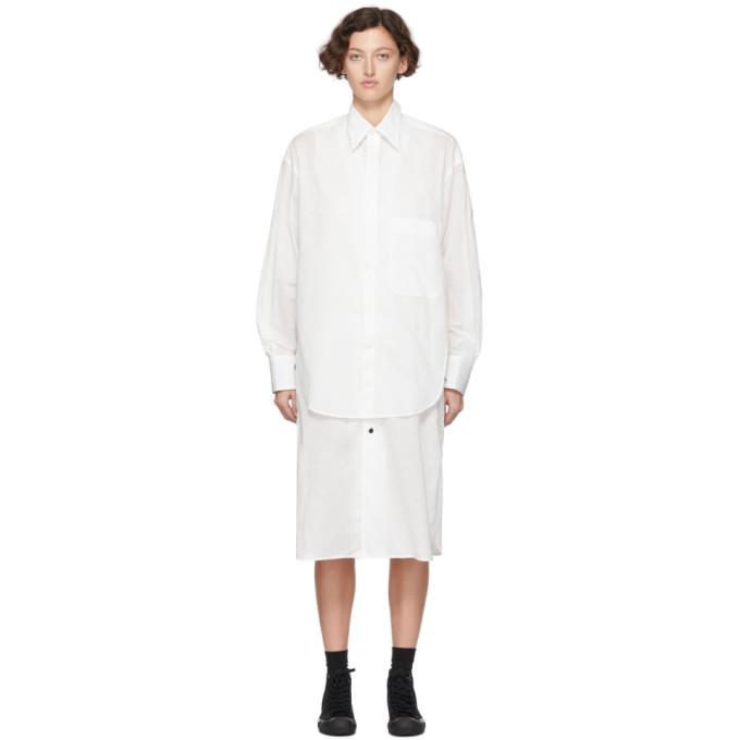 Ys Robe chemise etagee blanche