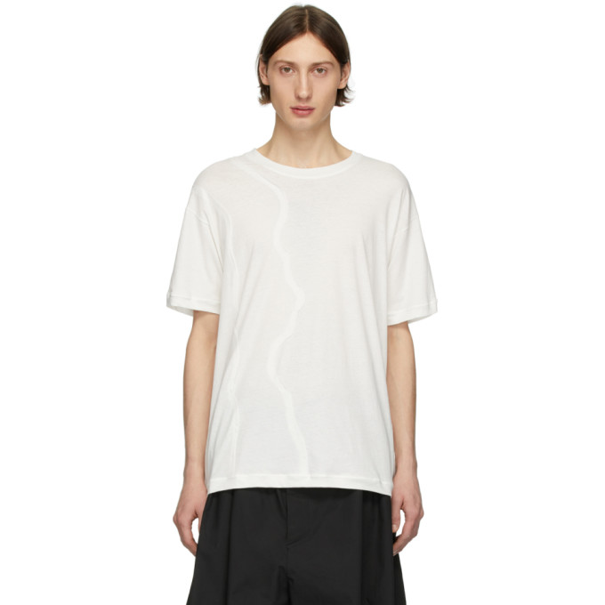 Isabel Benenato T-shirt blanc Hem Detail
