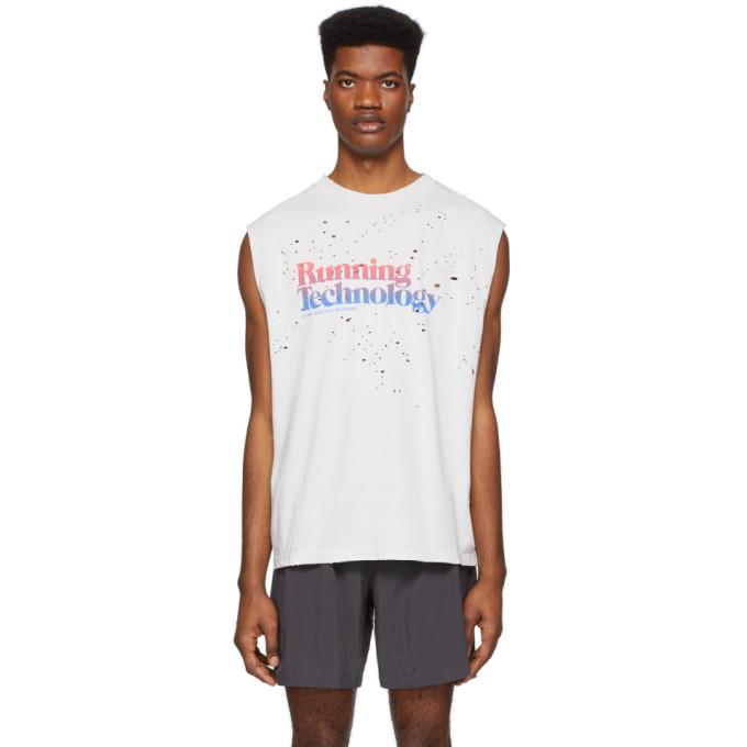 Satisfy T-shirt sans manches gris Moth Eaten Running Technology