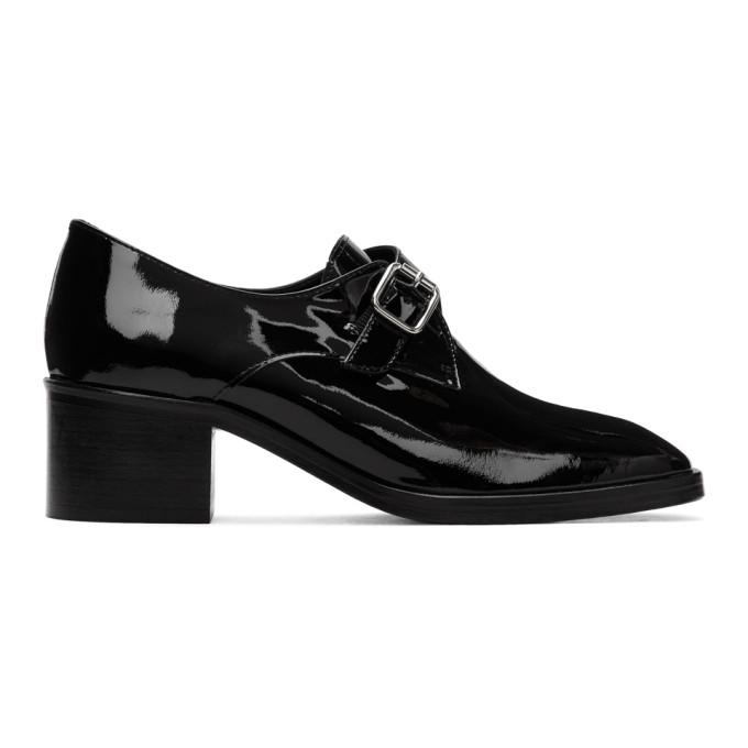 Dorateymur Chaussures a talons hauts en cuir verni noires College Monk Loafer