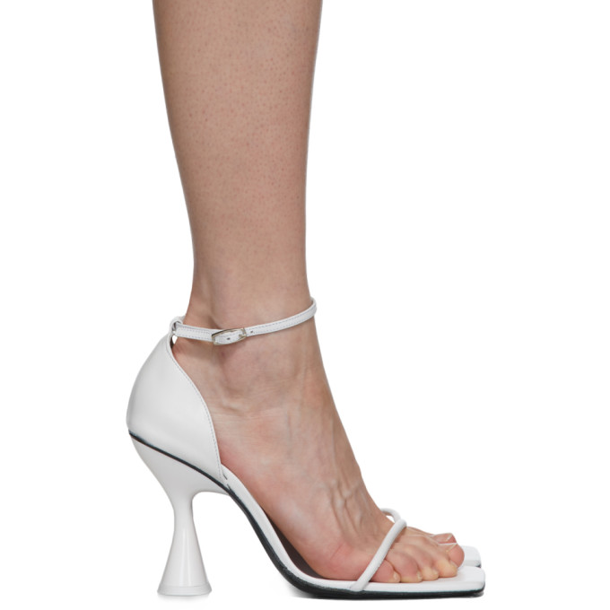 Dorateymur Sandales a talons hauts blanches Strappy