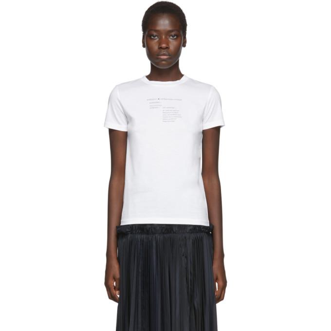 Enfold T-shirt blanc Definition