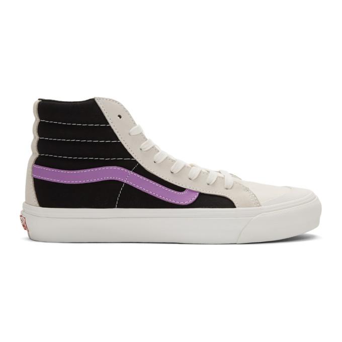 Vans Grey and Purple OG Style 36 Hi Sneakers