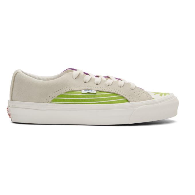 Vans White and Green OG Lampin LX Sneakers