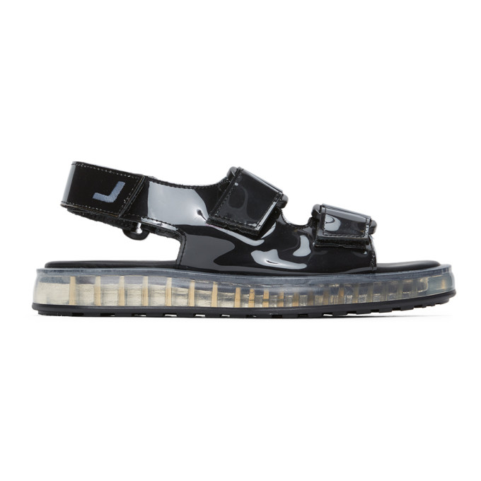 Joshua Sanders Baskets en PVC noires Transparent Sole