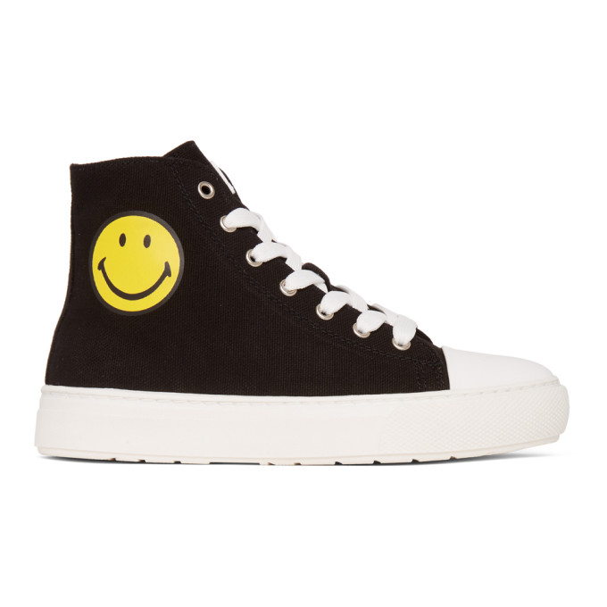 Joshua Sanders Baskets montantes noires edition Smiley