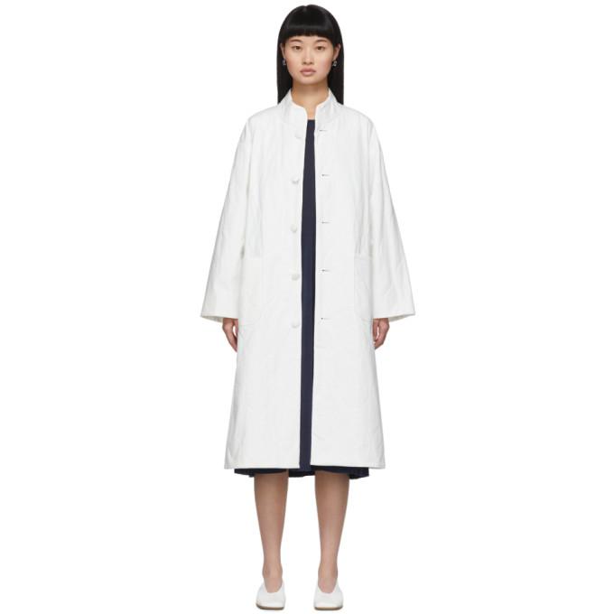 Blue Blue Japan Manteau matelasse blanc
