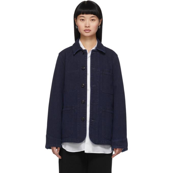 Blue Blue Japan Blouson en denim indigo Sashiko