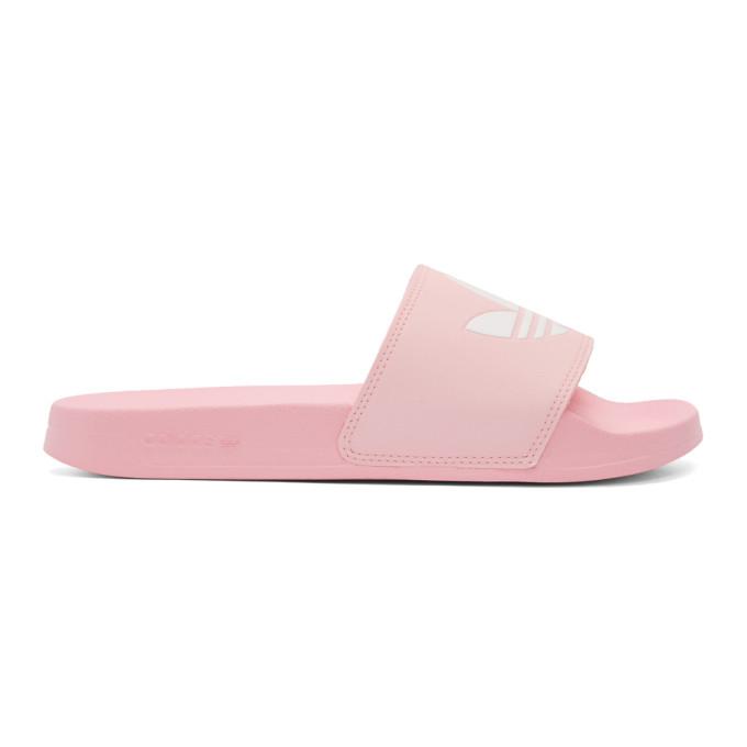 Buy adidas Originals Pink Adilette Lite Pool Slides online