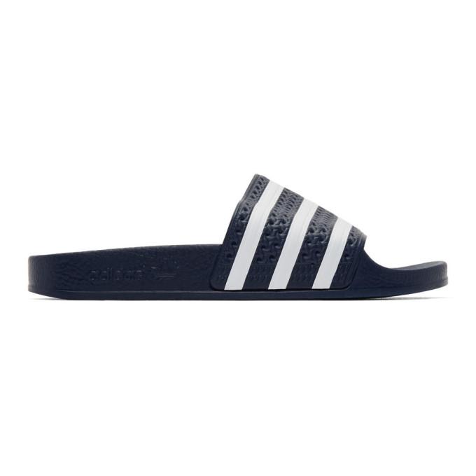 Buy adidas Originals Navy Adilette Sandals online