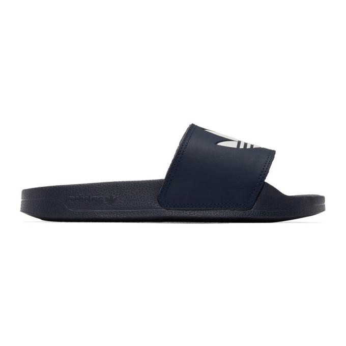 Buy adidas Originals Navy Adilette Lite Sandals online