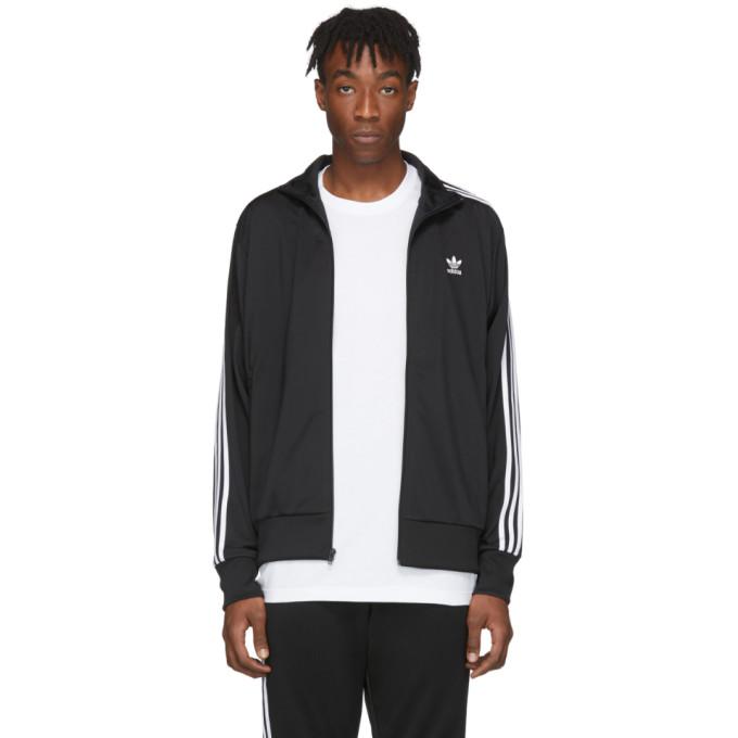 Adidas Originals Jackets ADIDAS ORIGINALS BLACK FIREBIRD TRACK JACKET