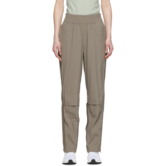 Adidas By Stella Mccartney Brown Performance Track Pants In Simple Brow