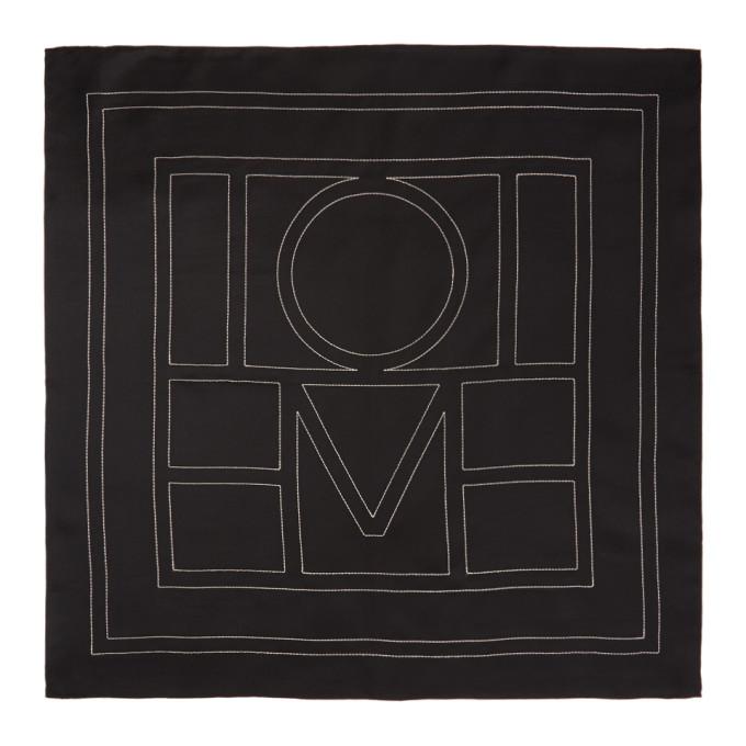 Toteme Foulard en soie noir Pantelleria