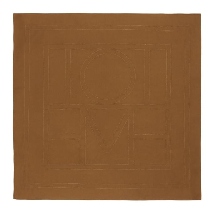 Toteme Foulard en soie brun Pantelleria