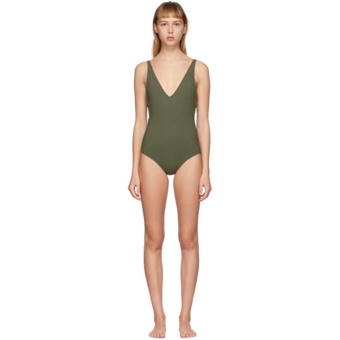Toteme Maillot de bain une piece vert Melissa