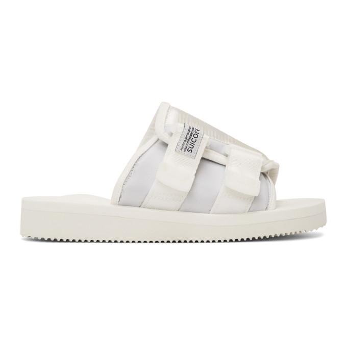 Buy Suicoke White KAW-Cab Sandals online