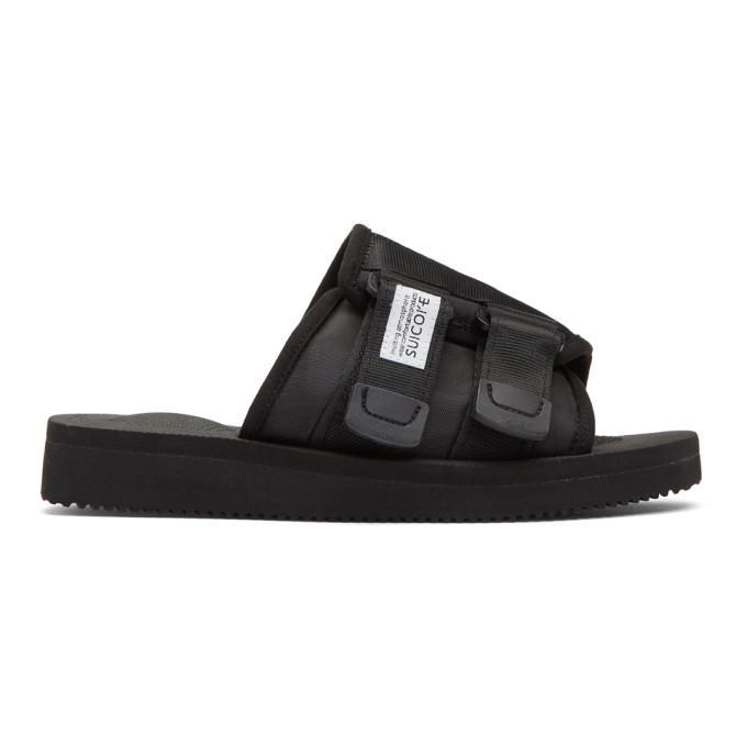 Buy Suicoke Black KAW-Cab Sandals online