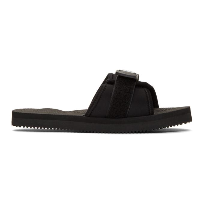 Buy Suicoke Black Padri Sandals online
