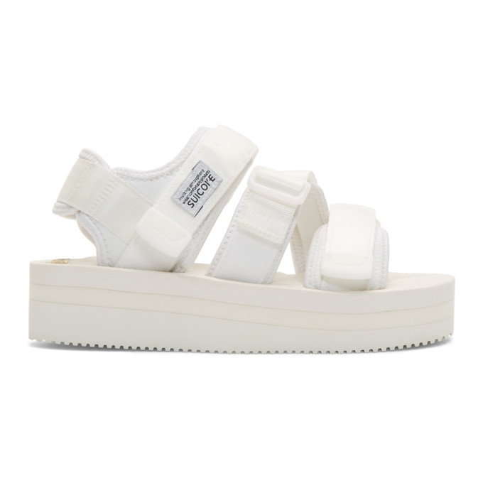 Suicoke White Kisee-VPO Sandals