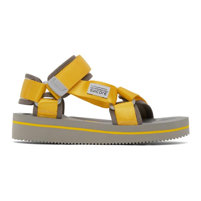 Suicoke Sandales jaunes et noires Depa-V2EU3