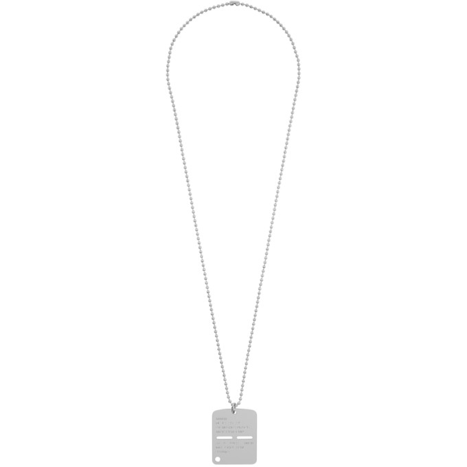 1017 ALYX 9SM Silver Military Tag Necklace  - buy with discount