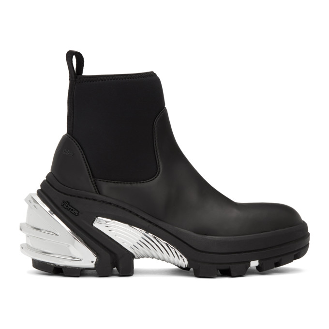 Buy 1017 ALYX 9SM Black and Silver Rubber Boots online