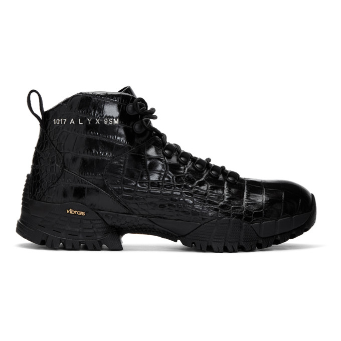 Buy 1017 ALYX 9SM Black Croc Hiking Boots online