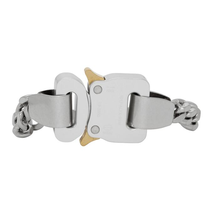 1017 ALYX 9SM Silver Buckle Bracelet  - buy with discount
