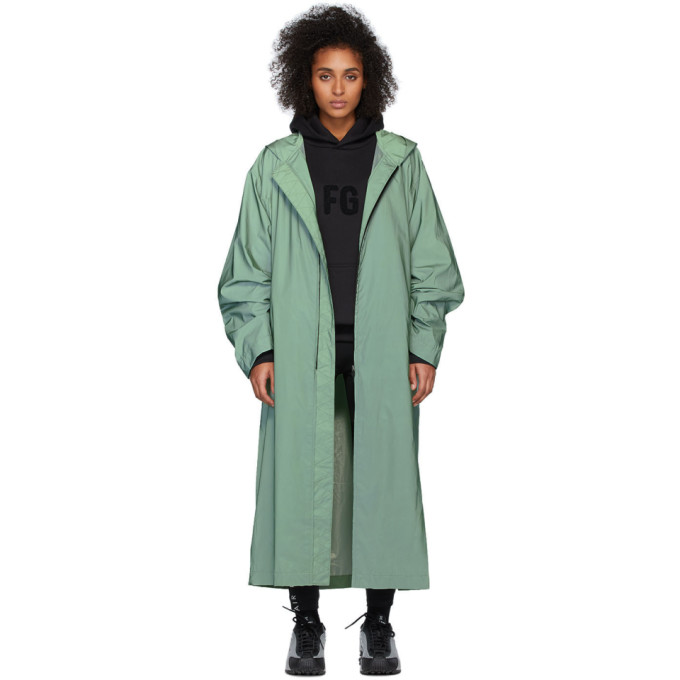 Fear of God Impermeable a capuche vert Sixth Collection