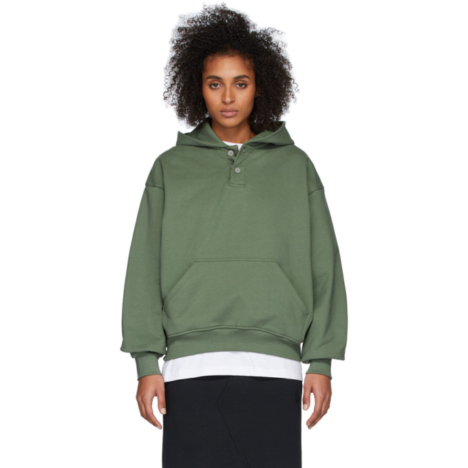 Fear of God Pull a capuche vert Sixth Collection Everyday Henley