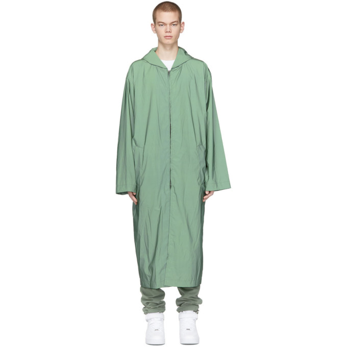 Fear of God Impermeable en nylon a capuche vert