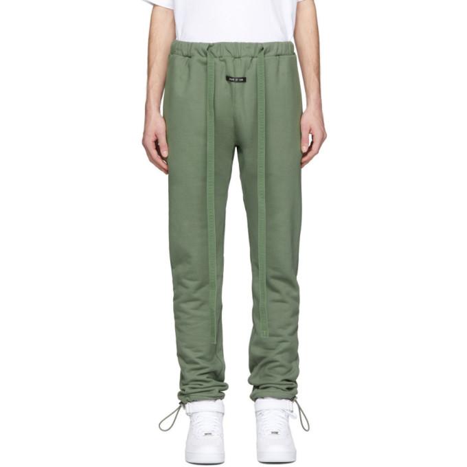 Fear of God Pantalon de survetement vert Core