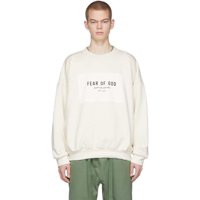 Fear Of God FEAR OF GOD OFF-WHITE SIXTH COLLECTION PATCH LOGO SWEATSHIRT