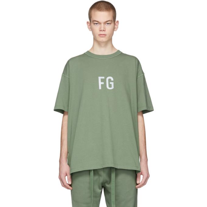 Fear of God T-shirt vert FG