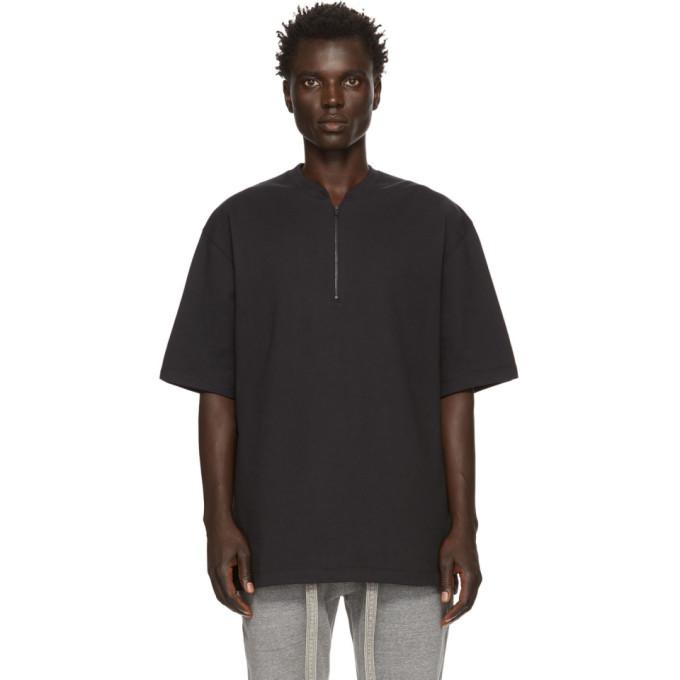 Fear of God T-shirt henley a demi-glissiere noir