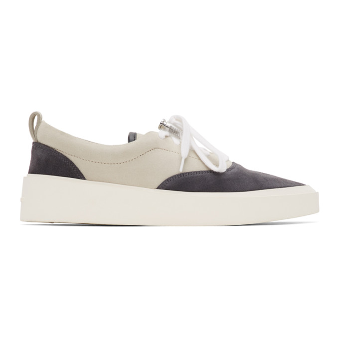 Fear of God Baskets lacees grises et bleu marine 101