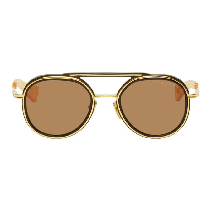 Dita Gold and Black Spacecraft Sunglasses