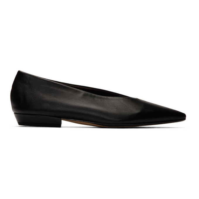 Buy Bottega Veneta Black Nappa Ballerina Flats online