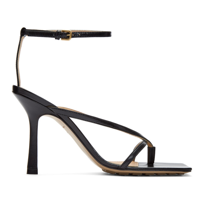 Bottega Veneta Bottega Venetta Women's Square-toe High-heel Sandals In 1000 Black