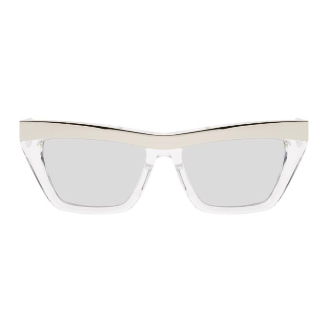 Bottega Veneta 银色方框太阳镜