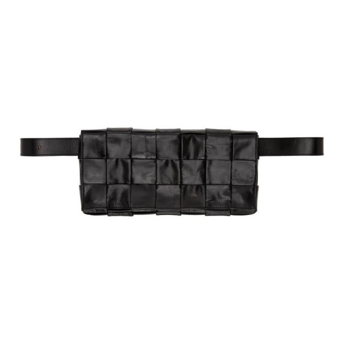 Bottega Veneta Intrecciato Leather Belt Bag In 1000 Black