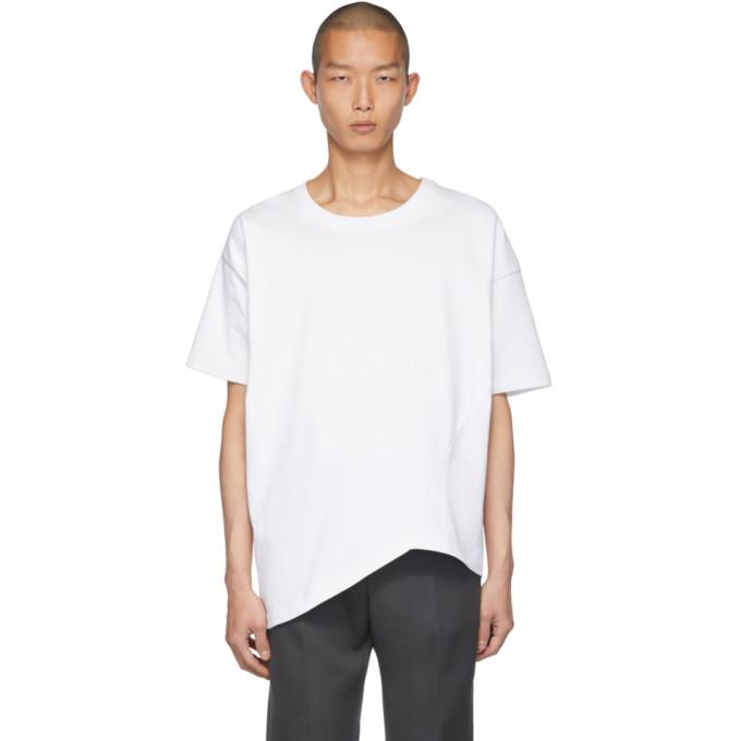 Bottega Veneta Twisted Cotton-jersey T-shirt In 9122 Opt Wh