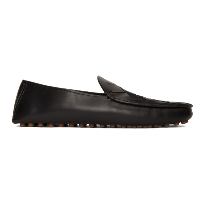 Bottega Veneta Intrecciato Leather Loafers In 1000 Black