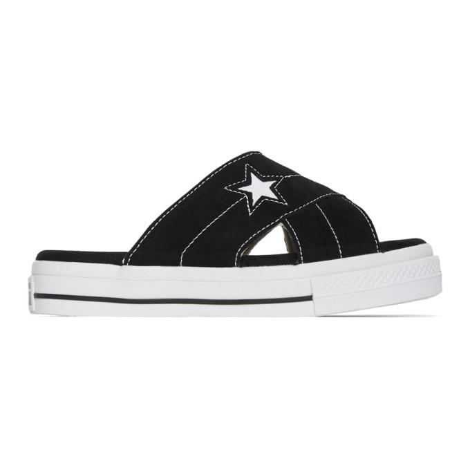 Converse Sandales noires One Star Criss Cross