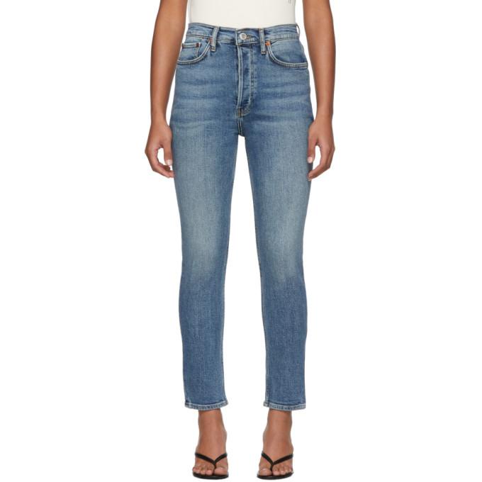 Re/Done Jean bleu High-Rise Ankle Crop